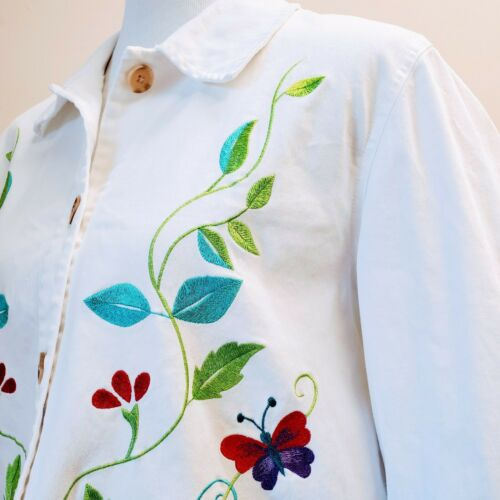 DENIM & CO. Embroidered Cotton Jacket please see … - image 1