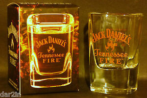 NEW JACK DANIELS TENNESSEE FIRE WHISKY SHOT GLASS PUB BAR HOME ...