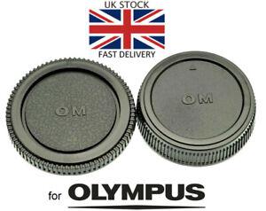 NEU-Body-amp-Rear-Lens-Cap-fuer-Olympus-OM-Mount-UK-Verkaeufer-SLR-Film-Kamera-Objektiv
