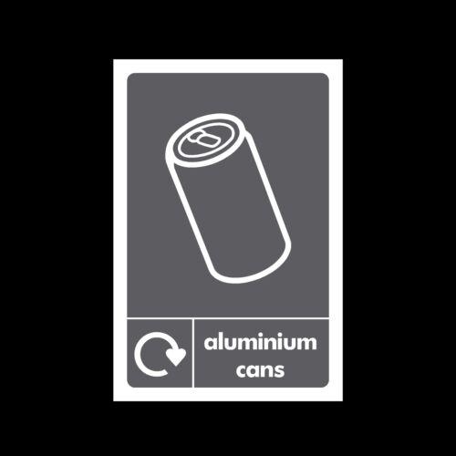 Latas De Aluminio residuos-muestra plástica etiqueta engomada-todos sizes//materials
