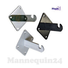 Gridwall Heavy Duty Wall Mount Brackets For Grid Panels Chrome White Or Black