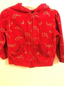 Glitter Stars & Cute Imported From Abroad Faded Glory 24mo Red Zipper Jacket With Hood,zipper Front Clothing, Shoes & Accessories Baby & Toddler Clothing