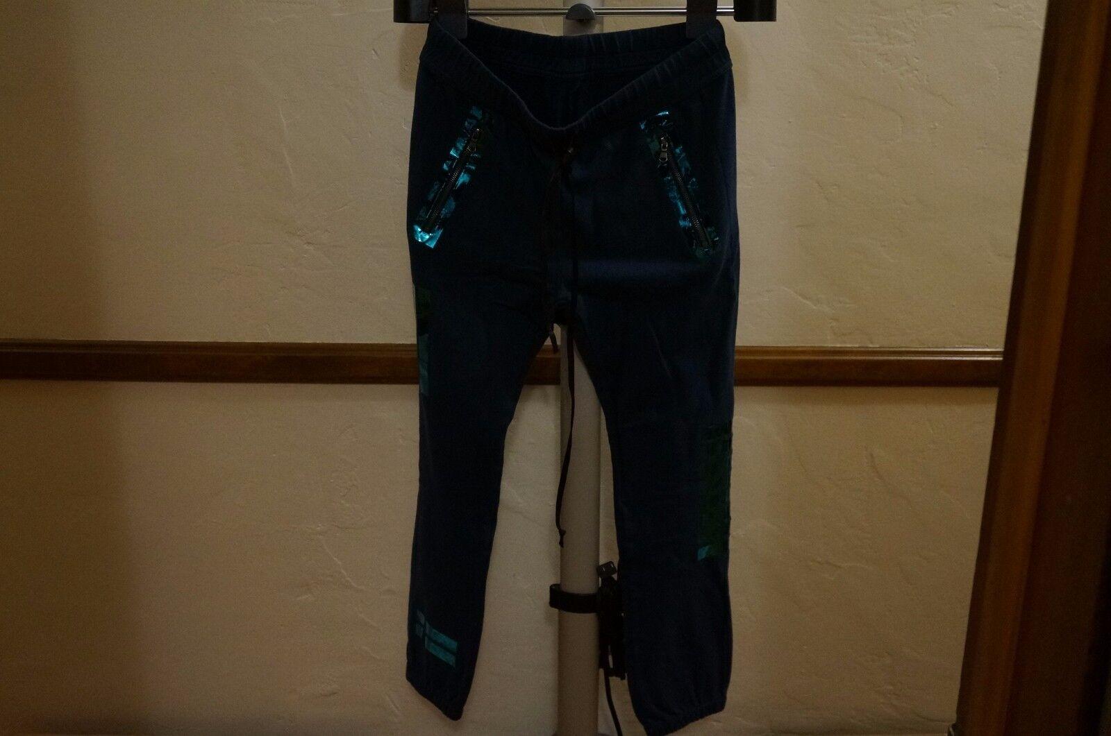 175 HUDSON 100% COTTON AVERY MOTO SWEAT PANTS SZ SMALL bluee