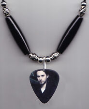 30 Seconds to Mars Jared Leto Photo Guitar Pick Necklace 30STM