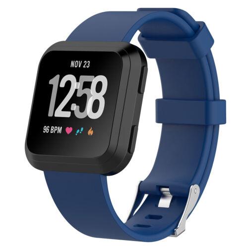 Faixa Para Fitbit Versa Pequeno//grande Cinta De Silicone Borracha Pulseira de substituição
