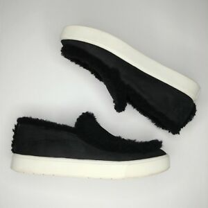 Vince-Slip-On-Suede-Shearling-Sneakers-US-6-Euro-36-Carlen-Black