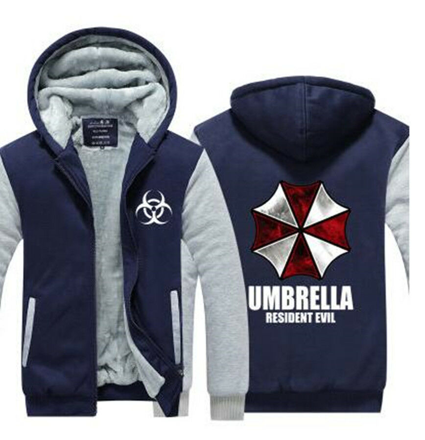 Film Resident Evil Hoodies Warme Winter Cosplay Reißverschluss Jacke Mantel M-6X