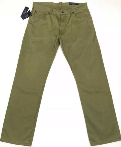 RRP £109 Ralph Lauren Men's Straight Fit Jeans Mount Green