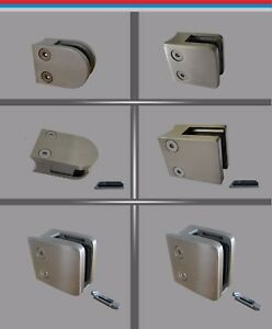 Glashalter-Edelstahl-V2A-Glasklemme-Mini-Maxi-Klemmhalter-Gelaender-eckig-rund