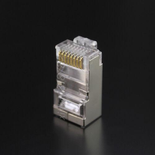 10pcs rj45 connector cat6 8p8c shielded network connectors rj45 plug terminals
