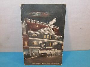 Vintage-EMPRESS-THEATRE-BY-NIGHT-Omaha-Nebraska-Postcard-c-1915-Post-Card