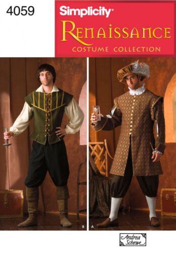 patrón de costura simplicidad de hombre 4059 Renacimiento históricas.. Gratis Reino Unido P/&p