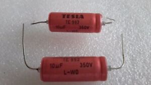 5uF 25V Electrolytic Capacitor Axial IEC NOS QTY 10