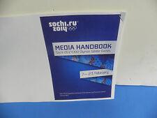 Sochi 2014 Men's Ice Hockey Media Handbook 27-Page Program Booklet