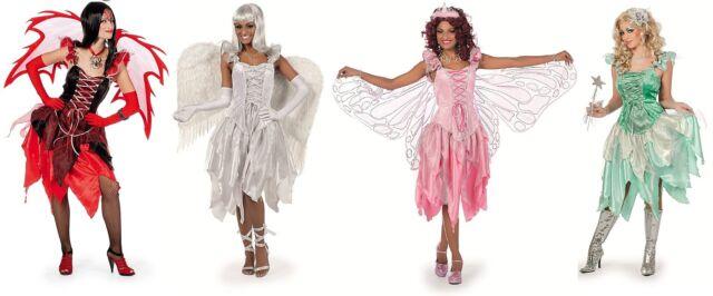 Feen Fee Elfe Tinkerbell Kostüm Kleid Elfen Damen Waldfee Engel Schmetterling