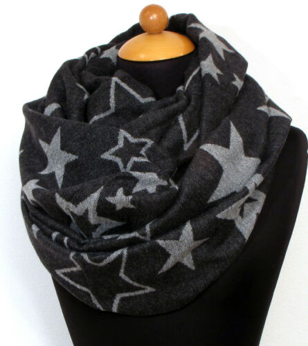 Loop Tricot Fin Tuyau foulard écharpe écharpe tube étoiles star Neuf 1934