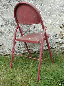 chaise fer pliante de parc jardin ancienne riveté design Stevens ...