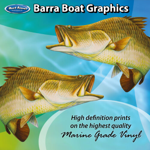 set of 250mm Boat Graphics Barra Graphics