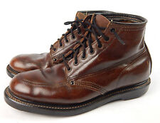 """Vintage Men's Brown Leather Riding work Boots BF Goodrich 9.5"""" Insole Size 8?"""