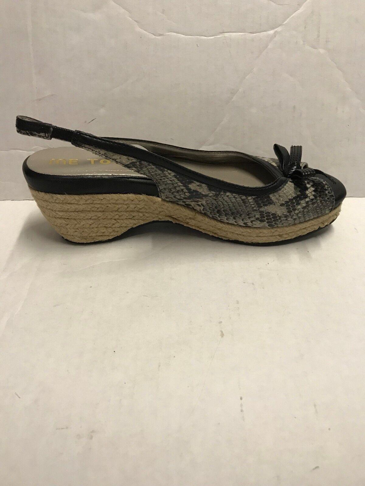 Me Too Janice Black Snake 8 Skin Wedges Shoes Size 8 Snake a8bdac