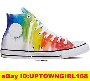 11e851c148e Converse Chuck Taylor ALL STAR HI Pride Rainbow Shoes Proud LGBT Men ...