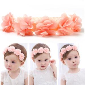 Lace Flower Hair Band Cute Kids Baby Girl Toddler Headwear Headband ... 22e002cad6d