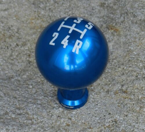 05-14 FORD MUSTANG CNC BILLET RACING SHIFT KNOB 12X1.25MM 5 SPEED MT BLUE