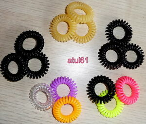 Image is loading Spiral-Plastic-Coloured-Hair-Band-Hairband-Bobble-Stretchy- cdf47b58dac