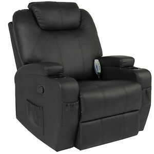 Image is loading Massage-Recliner-Sofa-Chair-Heated-W-Control-Ergonomic-  sc 1 st  eBay : recliner lounge - islam-shia.org
