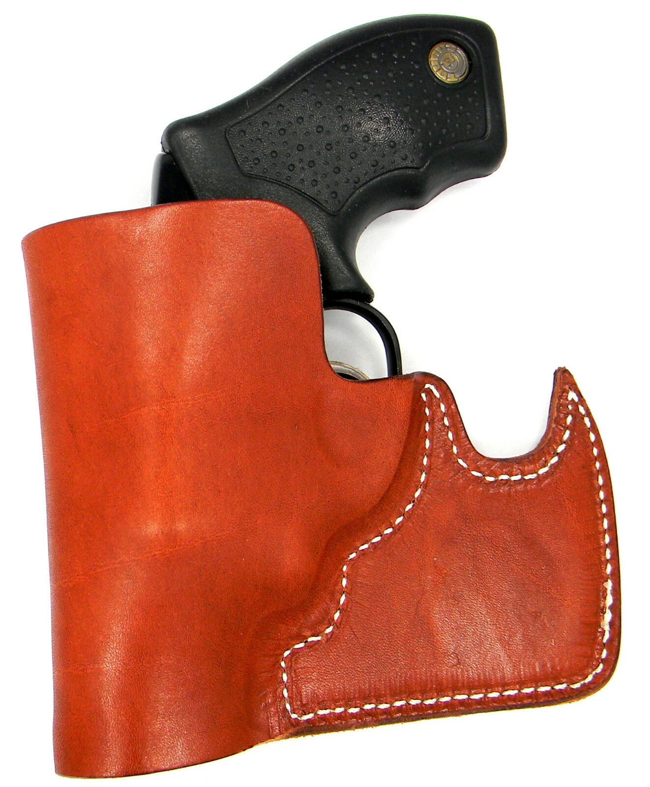 CEBECI FRONT POCKET BROWN LEATHER CCW CONCEALMENT HOLSTER 38 SPECIAL REVOLVER