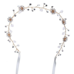 Bridal-Rhinestone-Daisy-Flower-Headband-Crystal-Pearl-Wedding-Hair-Band-Tiara