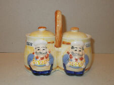 One Piece Ceramic Sugar and Cream Bowls Servers - Lovely