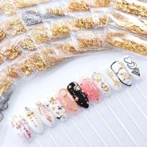 3D-Metal-Nail-Art-Decoration-Ocean-Rivets-Gold-Shell-Rhinestones-Manicure-Tips
