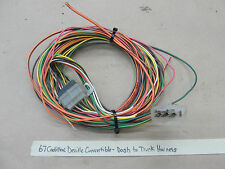 OEM 67 Cadillac Deville CONVERTIBLE DASH DASHBOARD TO TRUNK WIRE HARNESS PIGTAIL