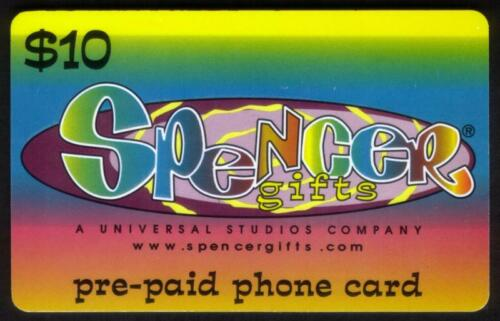 $10 A Universal Studios Company Colorful Card USED Phone Card Spencer Gifts