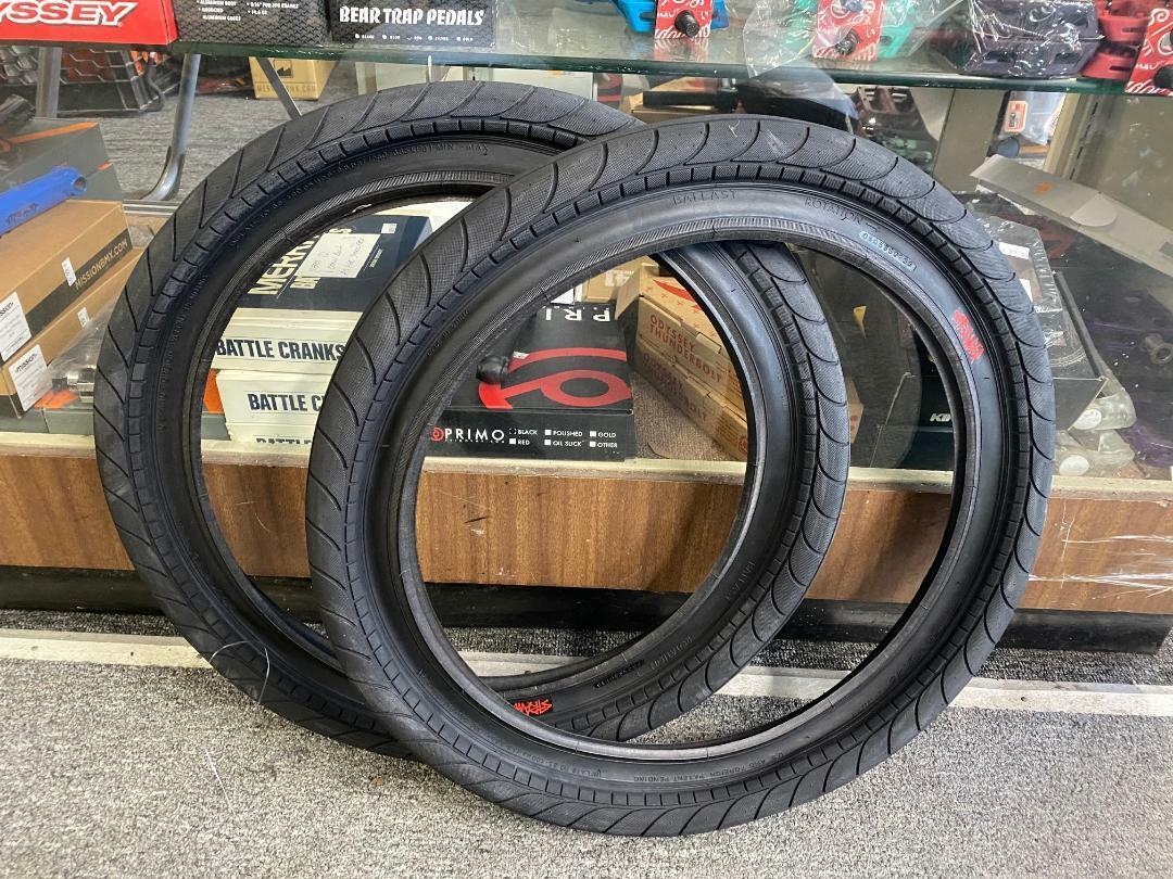 "PAIR OF STRANGER BMX BIKE BALLAST BLACK 20 x 2.45/"" TIRES PRIMO CULT SUNDAY"