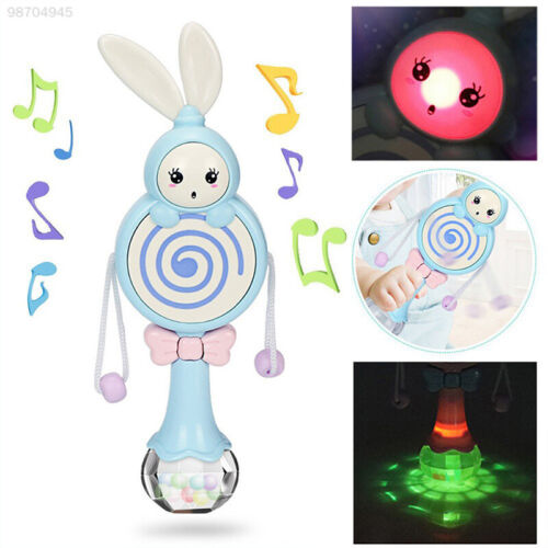 2E9F Blue//Pink Rabbit Baby Toy Music Gift Bed Sleeping Musical Baby Rattle Sing