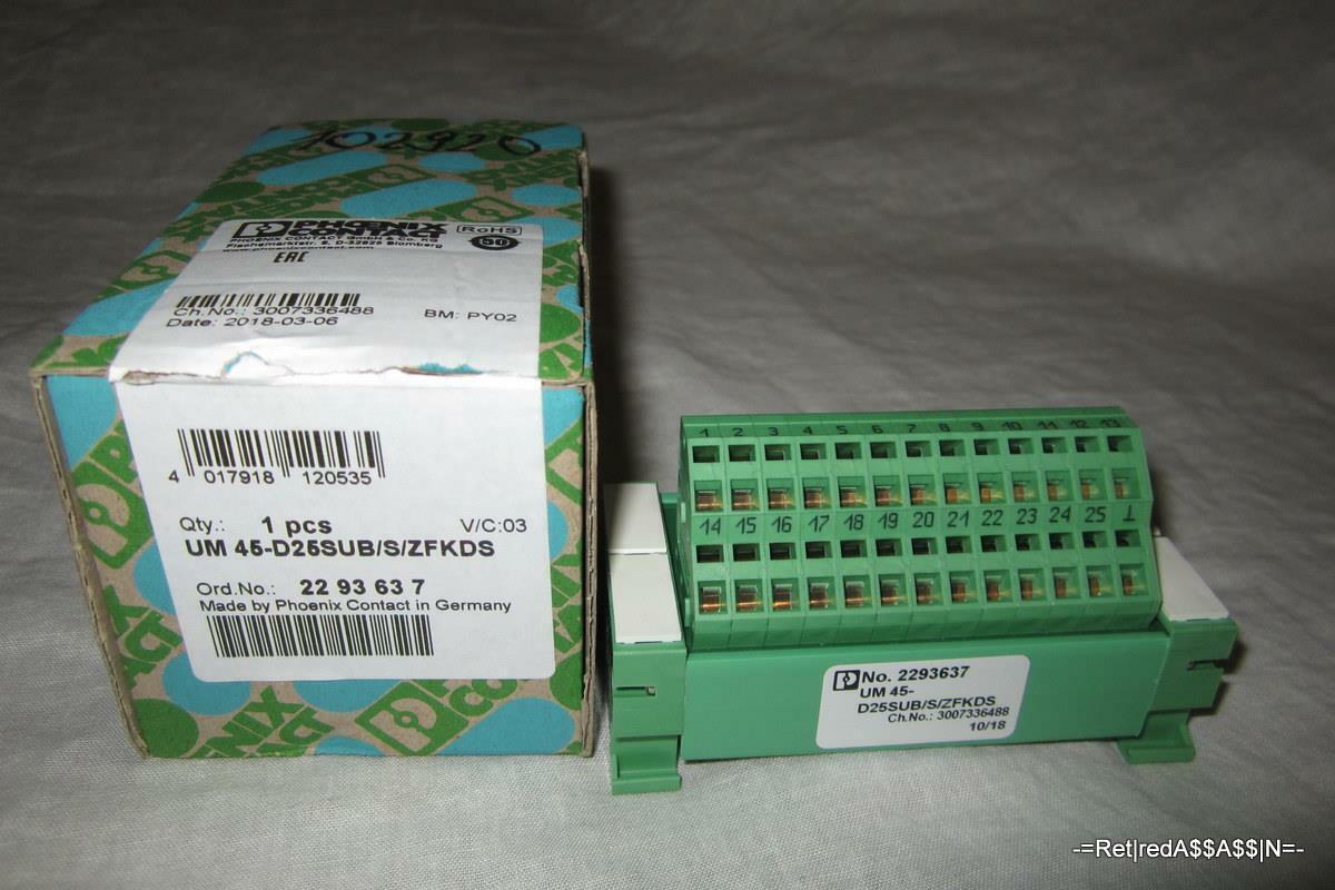 NEW in Box PHOENIX CONTACT  UM-45-D25SUB S ZFKDS 2293637
