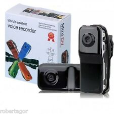 MINI DV SPY TELECAMERA DIGITALE AUDIO VIDEO REC MICRO SD CARD MD80 WEBCAM DVR
