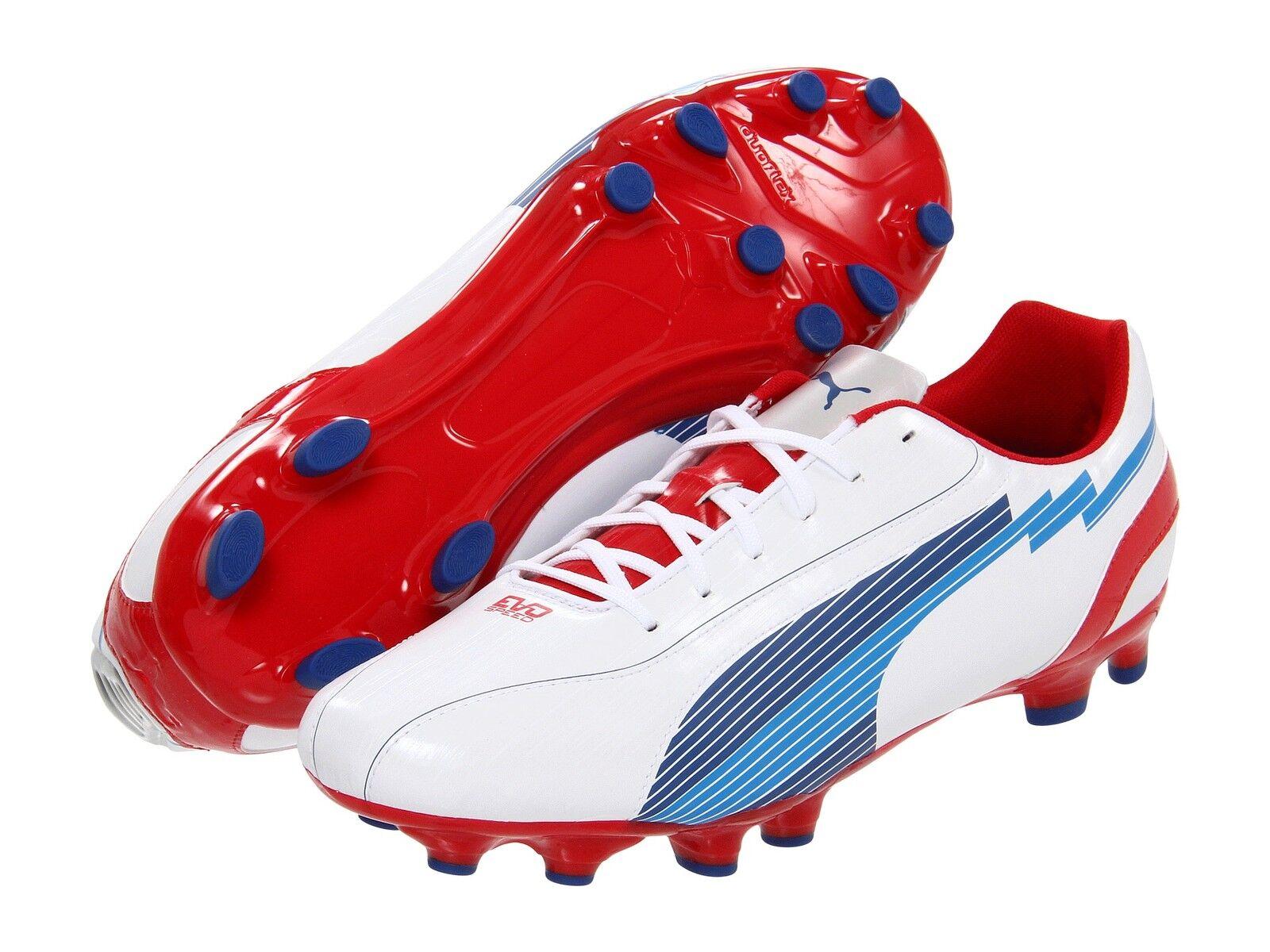 Puma eVoSpeed 5 FG Soccer shoes White   Red   Royal Kids Youth Brand New