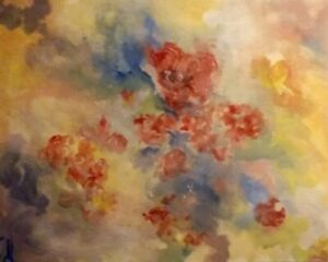 ORIGINAL-30x24-Floral-Acrylic-Canvas-painting