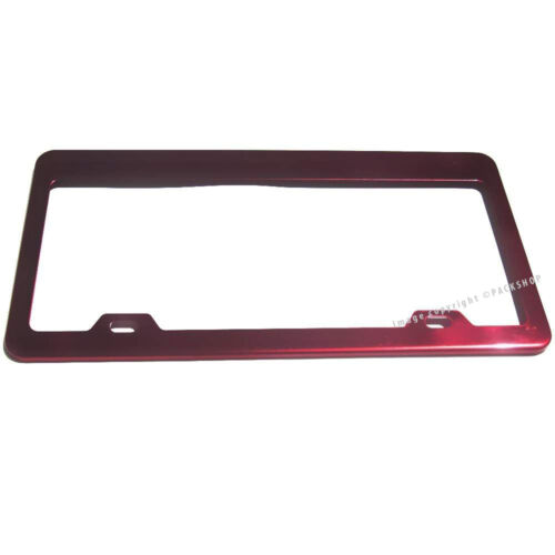 For Mercedes Benz Mitsubishi Red Coated Stainless Steel License Plate Frame