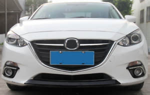 ABS Black Front Grille Bottom Bumper Cover Trim For Mazda 3 Axela 2014-2016
