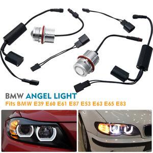 BMW-2x-Faros-LED-LCI-Ojos-de-Angel-Bombilla-Luz-E39-E60-E61-E87-E53-E63-E65-E83