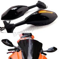 Us Black Motorcycle Led Rear Mirrors For Kawasaki Ninja 250r 2008-2011 2009 2010