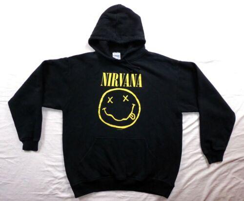 Vintage Nirvana 1992 smiley face hoodie sweatshirt