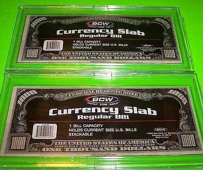2 11//16 X 6 1//4 Archival Regular Bill 15 BCW Deluxe Currency Slabs