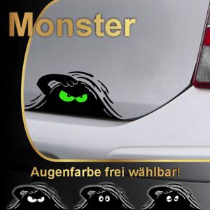 ### Monster Aufkleber - Augenfarbe wählbar! - böse bad auto sticker tuning ###