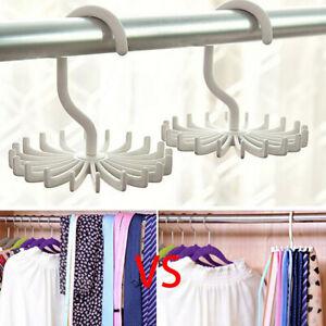 360-Rotation-Neck-Tie-Belt-Scarf-Rack-Hanger-20Hooks-Holder-Wardrobe-W8H