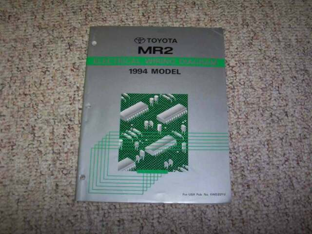 1994 Toyota Mr2 Electrical Wiring Diagram Manual Turbo